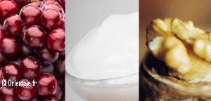 Crème de raisin, ingrédients mosaïque
