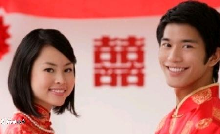 Jeunes maries chinois